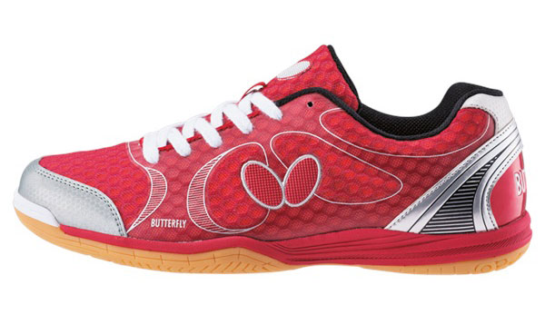 Butterfly Lezoline Lazer Shoes Red